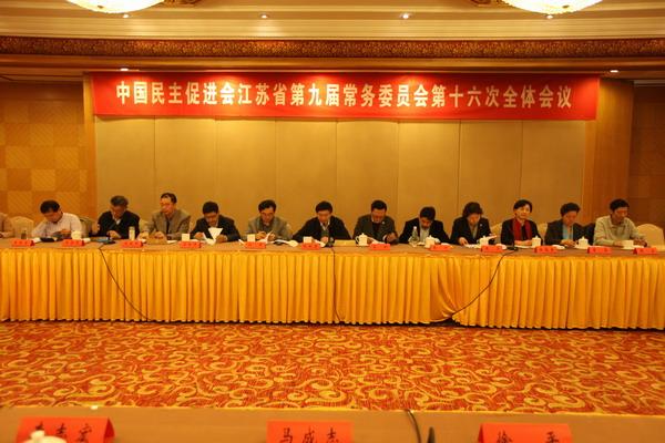 民进江苏省九届十六次常委会议在南京举行