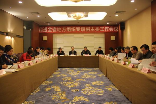 民进全省地方组织专职副主委工作会议在南京召开